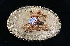 RAIN TREE 1978 BUDWEISER BEER BOTTLE & COWBOY BELT BUCKLE  4072