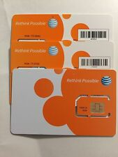 AT&T PREPAID GO PHONE 3G/4G SIM CARD READY ACTIVATE, SKU 73057/40952 Iphone2/3GS