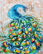 3 Postcards of Proud sexy Peacock bird Painting by Karen Tarlton