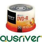 50 Disc Sony DVD-R DVDR Recordable Blank Media Discs 16x 4.7GB