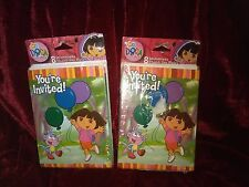 Dora the Explorer Party Invitation and Thank You Cards Set of 16