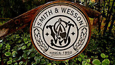 Vintage Signs Smith And Wesson Guns Ammunition Hunting Tin Metal Sign