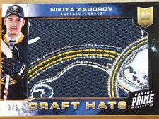 2013-14 PANINI PRIME HOCKEY - DRAFT HATS - NIKITA ZADOROV DRAFT HAT   #3 OF 5!!!