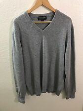 BROOKS BROTHERS 3-Ply Cashmere V-Neck Sweater Pullover LARGE Made In Scotland