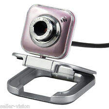 Pink HD 16.0 MP Mega Pixel Adjustable Webcam with Foldable Stand Mic PC/Laptop