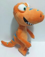 "Dinosaur Train Plush Orange Dinosaur Standing Only One Online 11.5"" Plushy Soft"