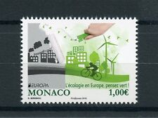 Monaco 2016 MNH Europa Think Green 1v Set Windmills Bicyles Stamps