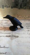 Cast Iron Crow On Base Home and Office Figurine Decor