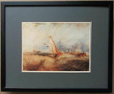 Ships at sea getting a good wetting by Turner 20''x16'' - framed Turner wall art