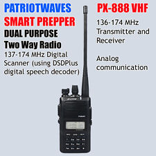 Patriotwaves PX-888 Dual Purpose SDR digital / VHF Analog Two-way radio