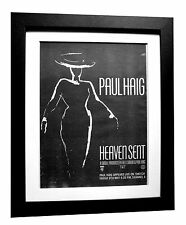 PAUL HAIG+Heaven Sent+POSTER+AD+RARE ORIGINAL 1983+FRAMED+EXPRESS GLOBAL SHIP