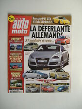 action AUTO MOTO 133 OPEL ASTRA GTC-GOLF GTI-MEGANE RS-PORSCHE 911 GT3-MASERATI