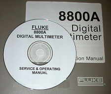 FLUKE 8800A DIGITAL MULTIMETER  SERVICE MANUAL