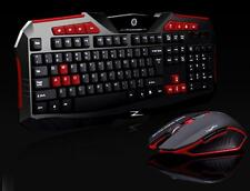 Gaming wireless 2.4G keyboard and Mouse Set to computer Multimedia Gamer Black