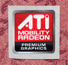 ATI Mobility Radeon Premium Graphics Sticker 15.5 x 16mm Case Badge USA Seller