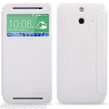 100% Original Nillkin Leather Flip Cover Case Folio Diary Case For HTC ONE E8