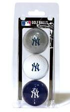 New York Yankees 3 Pack Golf Balls [NEW] MLB White Golfing Pk Ball CDG