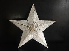 Shabby Chic Distressed Rustic Wooden HANGING STAR Wall Art next day despatch