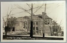 c 1930 Original Vintage CURLING CLUB Real Photo RPPC Postcard DULUTH MINNESOTA