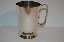 A1 SILVER PLATE TANKARD MAKERS MARK HB