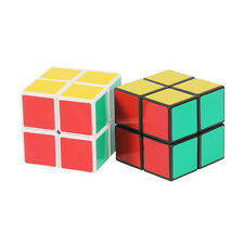 Shengshou 2x2x2 Colorful Smart Toy Magic 3D Cube Intelligence Game Black Frame