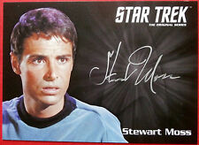 Star trek tos 50th stewart moss comme joe Tormolen limited edition autographe carte