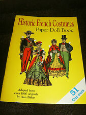 Historic French Costumes Paper Doll Book, 1991 Hobby House Press, 16 pgs