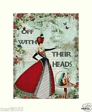 "Alice in Wonderland ""Off With Their Heads"" Print"