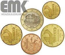 Andorra - 1,85 Euro 2014 - Euro-Kursmünzen-Satz - bfr. lose - 5 Werte -