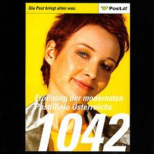 Post.at - Einladungskarte - Eröffnung - Postfiliale 1042 - 14.04.2005