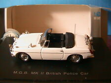 MGB MKII BRITISH POLICE CAR EAGLE'S RACE 1/43 UNIVERSAL HOBBIES ROADSTER ENGLAND