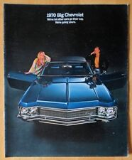 CHEVROLET 1970 Big Car Range orig USA Mkt brochure - Impala Caprice Bel Air