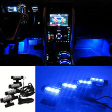 3 LED Auto Car Charge 4 in1 Atmosphere Light Lamp Blue Glow Car Interior Decor