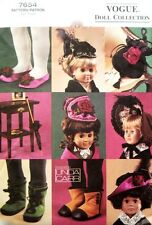 "Vogue Pattern 7654 624 18"" Doll Victorian Accessories Hat Boots Bag Linda Carr"