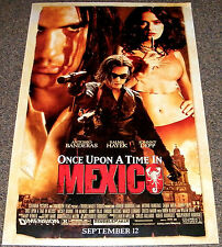 ONCE UPON A TIME IN MEXICO 2003 ORIGINAL 27x40 MOVIE POSTER! JOHHNY DEPP ACTION!
