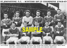 ST.JOHNSTONE F.C.TEAM PRINT 1963(SCOTTISH DIV 2 CHAMPS)