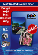 Inkjet Double Sided Brochure Paper 200g Matt x 40 Sheet