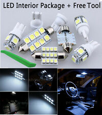6X Bulb Car LED Interior Lights Package kit For 2014 2015 Mazda 3 White+ tool NQ