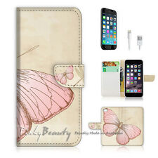 "iPhone 6 (4.7"") Print Flip Wallet Case Cover! Butterfly P0303"