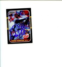 Andre Thornton Cleveland Indians 1987 Donruss Signed Autograph Photo Card