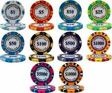 NEW 800 Piece Monte Carlo 14 Gram Clay Poker Chips Bulk Lot Pick Your Chips