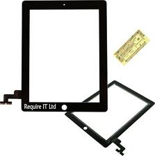 Apple iPad 2 2nd digitiser TOUCH SCREEN FRONT GLASS PANEL DI RICAMBIO NERO