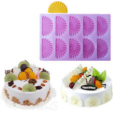 Fan Sector Fondant Cake Decorating Mold Chocolcate Stencil Baking Sugarcraft