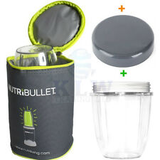 Nutribullet Blast Off Bag Cooler Carry Case Stay Fesh Lid + Small Cup 600w/900w