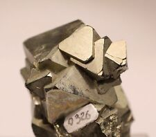 GREAT OCTAHEDRAL PYRITE CRYSTALS: HUANZALA MINE, PERU- VERY AESTHETIC