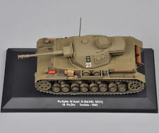 IXO 1:43 Scale Diecast Tunisia-1943 Pz.Kpfw.IV Ausf.G  Military Tank Model Toy