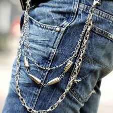 Fashion Men Bullet Style Gothic Biker Trucker Punk Key Jean Wallet Chain Hip-hop