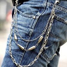 Men Bullet Style Gothic Biker Trucker Punk Key Jean Wallet Chain Hip-hop #JK