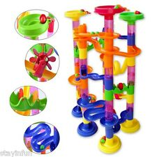 105pcs DIY Construction Marble Race Run Maze Ball Track Building Blocks Kid Gift