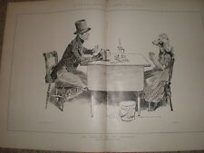 Dick Swiveller and the Marchioness Charles Dana Gibson Dickens 1897  print Ref L